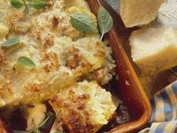 Cauliflower and Mortadella Gratin recipe
