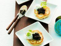 Cauliflower Pancakes with Caviar