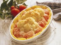Cauliflower, Potato and Tomato Gratin recipe