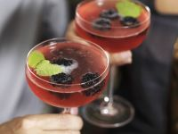 Cava with Blackberries recipe