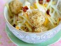 Celery Root Salad with Creamy Tofu Balls recipe