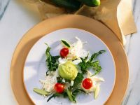 Celery Root Salad with Dill and Cucumber Sorbet recipe