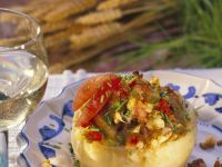 Celery Stuffed with Spelt and Vegetables recipe