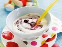 Creamy Pudding with Berries recipe