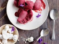 Cassis Sorbet with Champagne recipe