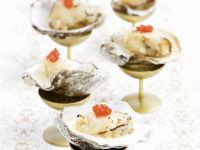 Champagne Battered Oysters with Cream Sauce recipe