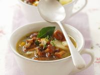 Chanterelle and Potato Soup with Thyme recipe
