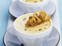 Gourmet Mushroom Bisque with Toasts recipe
