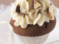 Chantilly Cream Topped Chocolate Cakes recipe