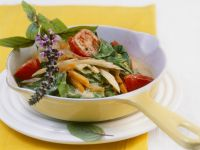 Chard and Mixed Vegetables with Spicy Green Curry Sauce recipe