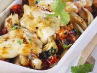 Chard-tomato Gratin with Bacon and Mozzarella recipe