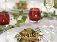 Cheese and Pomegranate Quiches