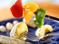 Cheese and Poppy Seed Fondue with Vegetables recipe