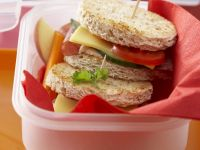 Cheese and Salami Salad Sandwich recipe