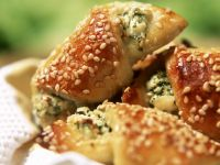 Cheese and Sesame Seed Croissants recipe