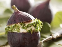 Cheese, Cashew, and Cress Stuffed Figs recipe