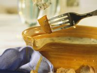 Cheese Fondue with Potatoes, Shrimp and Bread recipe