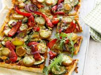 Cheese-free Veggie Pizza recipe