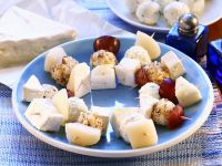 Cheese, Grape and Pear Appetizers recipe