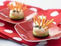 Cheese Hedgehog with Carrot Sticks recipe
