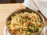 Cheese Noodles (Spaetzle) with Fried Onions recipe