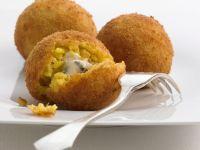 Cheese Stuffed Rice Balls recipe