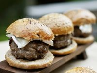 Cheese-topped Buffalo Burgers recipe