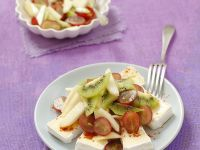 Cheese Topped with Fruit Salad recipe