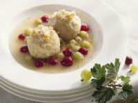 Cheesecake Dumplings with Gooseberries recipe