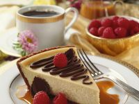 Cheesecake with Chocolate and Caramel Sauce recipe