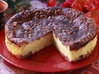Cheesecake with Chocolate Streusel Topping recipe