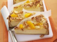 Cheesecake with Oranges and Flaked Almonds recipe