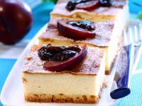 Cheesecake with Plums recipe