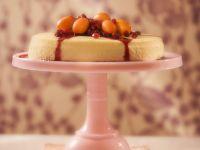 Cheesecake with Pomegranate and Kumquats recipe
