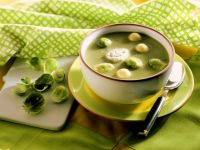 Cheesey Brussels Sprouts Soup recipe