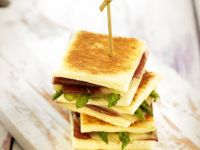 Cheesy Asparagus Sandwich Bites recipe