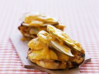 Cheesy English-style Muffins with Apple recipe
