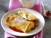 Cheesy Filled Crepes recipe