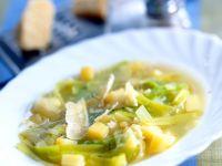 Cheesy Potato Leek Soup recipe