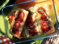 Cheesy Rice Slices recipe