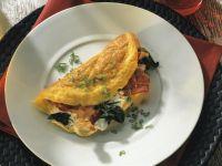 Cheesy Spinach Omelette recipe