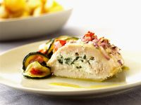 Cheesy Stuffed Chicken Breast with Zucchini recipe
