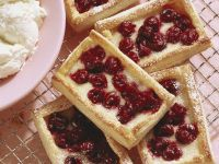 Cherry and Marzipan Cakes recipe