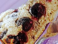 Cherry and Olive Oil Cake Slice