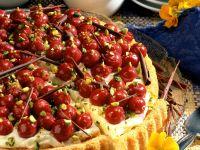 Cherry Cake with Mascarpone Cream recipe