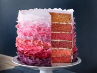 Cherry Layer Cake with Decorative Icing