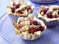 Cherry Tarts with Amaretto Macaroons recipe