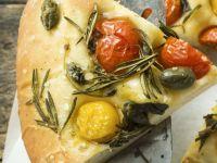 Cherry Tomato, Caper and Rosemary Focaccia recipe