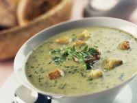 Chervil Soup with Scallions and Lemon recipe