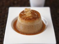 Chestnut Flan with Ginger Syrup recipe